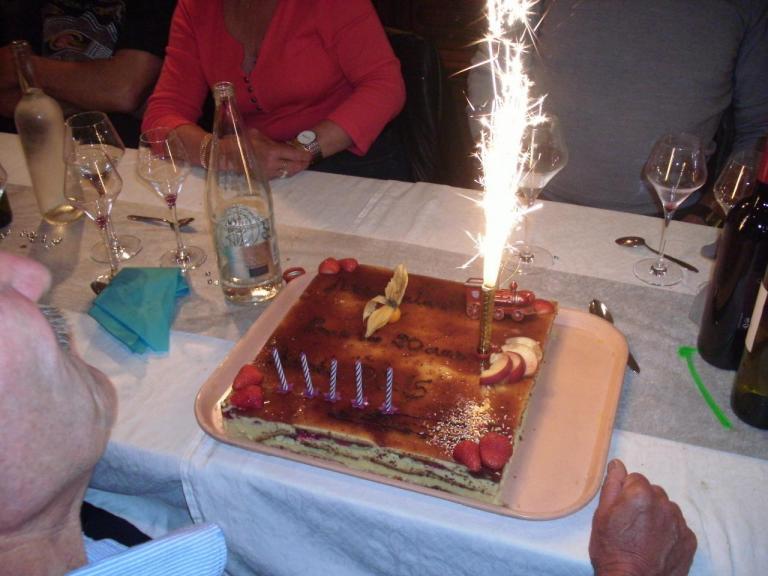 Le gâteau 20 ans