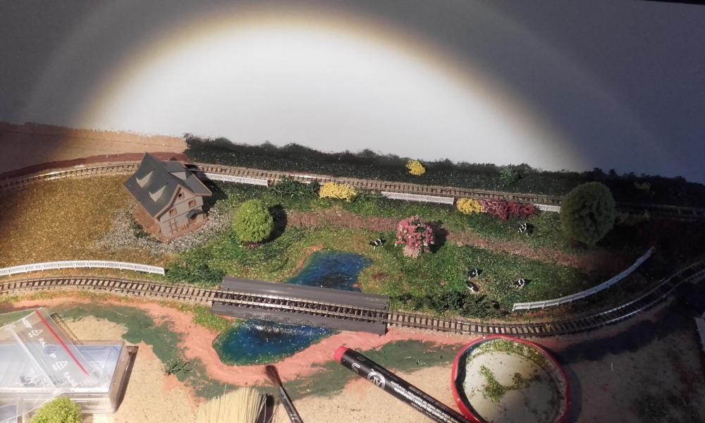 La ferme et l'étang